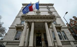 L'ambassade de France, le 25 janvier 2016 à Londres