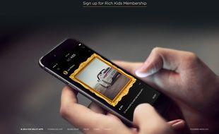 «Rich Kids», la nouvelle application à 1000$ par mois.