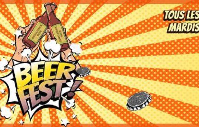 Visuel pop et coloré pour le Beer Fest du Gentleman Pub