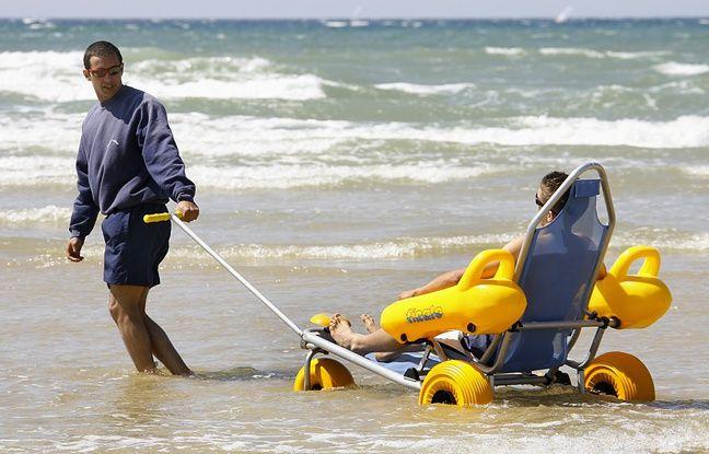 Le tiralo permet aux personnes en situation de handicap d'accéder à la mer.