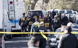 La police américaine sur les lieux d'une explosion qui a blessé une septuagénaire à Austin, au Texas, le 12 mars 2018.