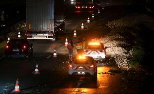 Une énorme coulée de boue a coupé l'autoroute A36 lundi soir entre Mulhouse et Belfort.