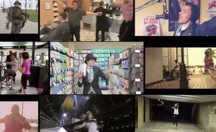 Capture d'écran du montage video de 20 Minutes sur les lipdubs des internautes sur «Happy» de Pharell Williams.