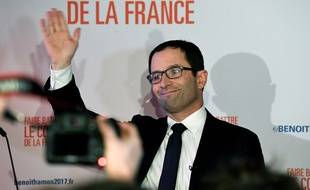 Benoît Hamon, le soir du 1er tour de la primaire à gauche, dimanche 22 janvier.