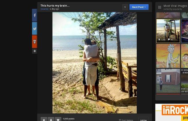 Illusion d'optique sur le site Reddit, publiée le 24 mai 2016.