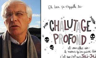 Alain Le Sann, du collectif Pêche et développement, commente la BD de Pénélope Bagieu contre le chalutage en eaux profondes, le 21 novembre 2013 à Lorient.
