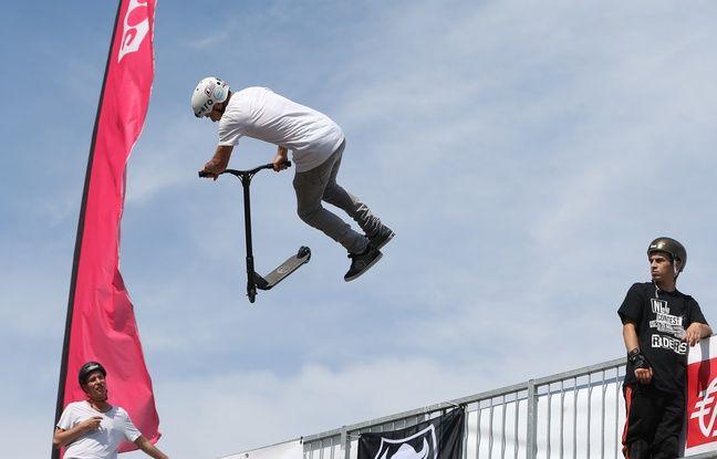 Strasbourg: La trottinette freestyle règne sur les skateparks et les «coins de villes»