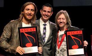 David Guetta et Fred Rister (Frédéric Riesterer de son vrai nom) en 2013.