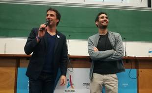 Tony Estanguet et Martin Fourcade à l'Université Paris 13.