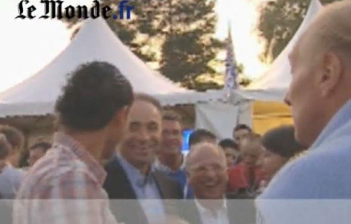 Capture-écran de la vidéo de Brice Hortefeux – DR