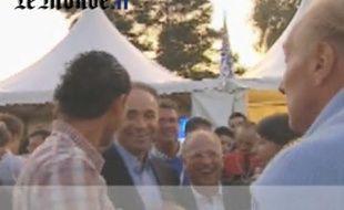 Capture-écran de la vidéo de Brice Hortefeux