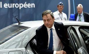 Le président de la Banque centrale européenne Mario Draghi à Francfort en Allemagne, le 25 juin 2015