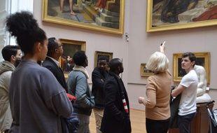 Les réfugiés visitent le Palais des Beaux-Arts grâce à RéAct.