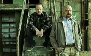 Aaron Paul & Bryan Cranston, les protagonistes de «Breaking Bad».