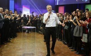 Bruno Le Maire lors de son premier meeting parisien de campagne pour la primaire, à Aubervilliers, le samedi 5 mars.