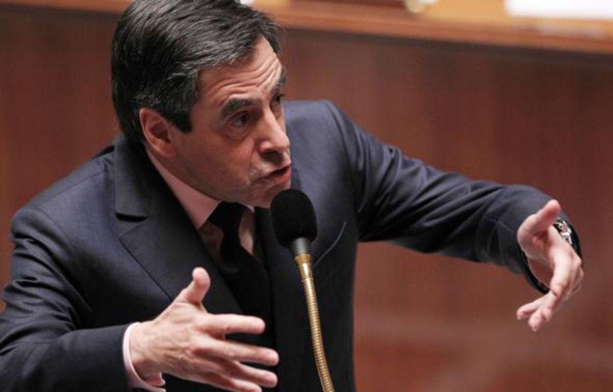 François Fillon, le 23 mars 2010 àl'Assemblée Nationale. – P.VERDY/AFP