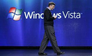 Bill Gates, président de Microsoft, présente le système d'exploitation Windows Vista le lundi 29 janvier 2007 à New York.