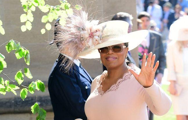 Oprah Winfrey arrive au château de Windsor ce samedi.
