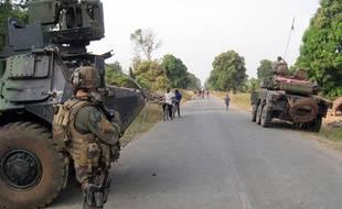 Les troupes françaises en Centrafrique, illustration.