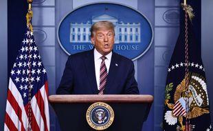 Donald Trump lors d'une conférence de presse à la Maison Blanche, le 5 novembre 2020.