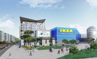 La magasin Ikea sera intégré dans un espace de près de 8 hectares comprenant aussi logements, services et d'autres commerces