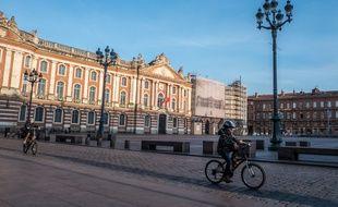 La place du Capitole, à Toulouse, le 21 mars 2020, pendant le confinement.