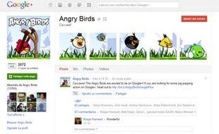 «Angry Birds» figure parmi les 20 marques et entreprises à avoir ouvert une page Google+.