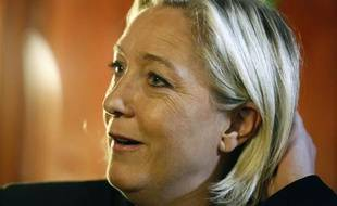 Marine Le Pen à Villeneuve-sur-Lot le 4 mai 2013.