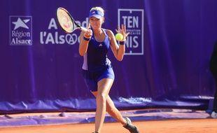 Strasbourg , capitale du tennis féminin (Archives, Mladenovic au tournoi des IS)
