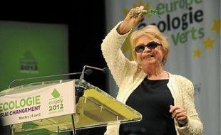 La candidate écologiste Eva Joly, mercredi soir en meeting à La Carrière de Saint-Herblain.