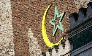 Mur d'enceinte d'une mosquée en France