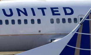 Un avion de la compagnie United Continental airlines.