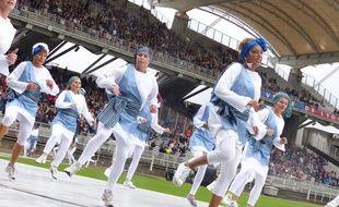 Lyon, le défilé de la biennale de la danse s'est déroulé au stade de Gerland le 18 septembre 2016, pour des raisons de de sécurité
