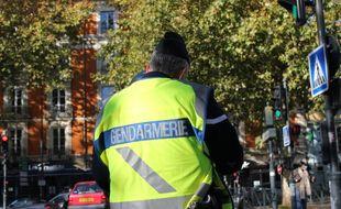 Illustration d'un gendarme ici lors d'un contrôle routier à Rennes.