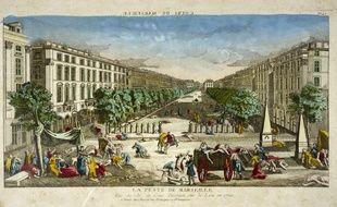Illustration de Marseille en 1720 pendant l'épidémie de peste.