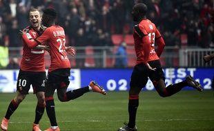 Kamil Grosicki et Ousmane Dembélé (à g.), les deux buteurs rennais dans le derby face à Nantes (4-1).