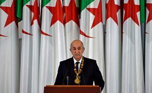 Le président algérien Abdelmadjid Tebboune lors de sa cérémonie d'investiture à Alger, le 19 décembre 2019.