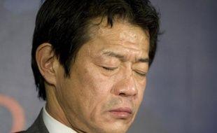 Le ministre japonais des Finances, Shoichi Nakagawa, en conférence de presse après une réunion du G7 à Rome, samedi 14 février 2009.