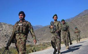 Des membres des forces de sécurité afghanes lors d'une opération militaire contre Daesh, le 6 décembre 2017. (illustration)