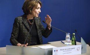 La ministre de la Santé, Marisol Touraine, le 9 mars 2015 à Paris