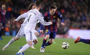 Lionel Messi lors de Barça-Real Madrid le 22 mars 2015.