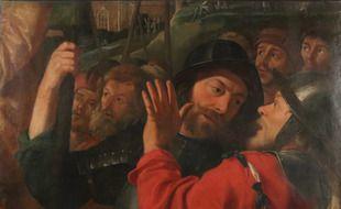 La fameux fragment de tableau acquis le 2 août 2020 par le Musée des Augustins de Toulouse.