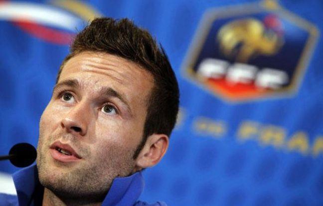 Yohan Cabaye, milieu de terrain de l'équipe de France, le 9 juin 2012, à Donetsk.