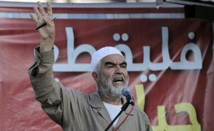 """Cheikh Raëd Salah, chef du """"Mouvement islamique - branche nord"""" en Israël, apparenté aux Frères musulmans, le 23 mai 2015 à Kfar Kana, au nord d'Israël"""