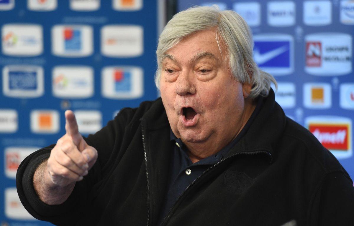 Le patron de Montpellier Louis Nicollin, le 27 janvier 2016. – PASCAL GUYOT / AFP