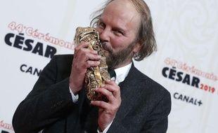 Philippe Katerine, sacré meilleur acteur lors de la cérémonie des César le 22 février 2019.