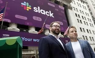 Les cofondateurs de Slack, Cal Henderson et Stewart Butterfield