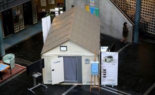 Un prototype de «cabane Ikea» exposé à Genève en 2013.
