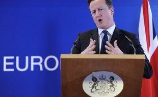 Le Premier ministre britannique David Cameron a promis --s'il est réélu-- d'organiser un référendum sur l'appartenance du Royaume-Uni à l'Union européenne,