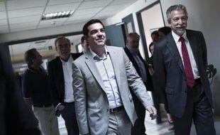 Le Premier ministre grec Alexis Tsipras au ministère de l'Education à Athènes le 2 juin 2015